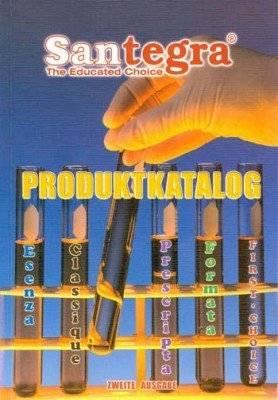 Santegra Produktkatalog in deutscher Sprache zweite Ausgabe
